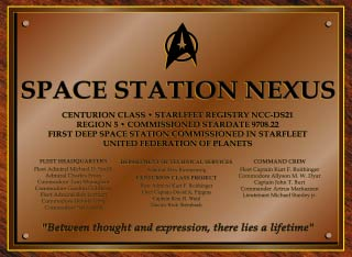 Nexus Dedication Plaque